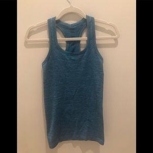Lululemon aqua blue run swiftly tank top